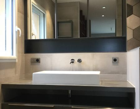 architecte d'intérieur vitré rénovation création mobilier salle de bain dressing chambre parentale