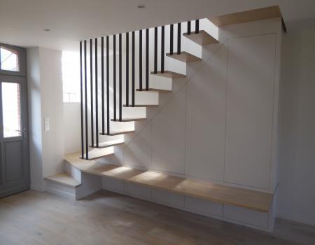 architecte d'intérieur rennes agencements escalier sur mesure rangements